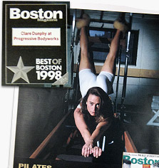 Winning Best of Boston for Pilates in 1998